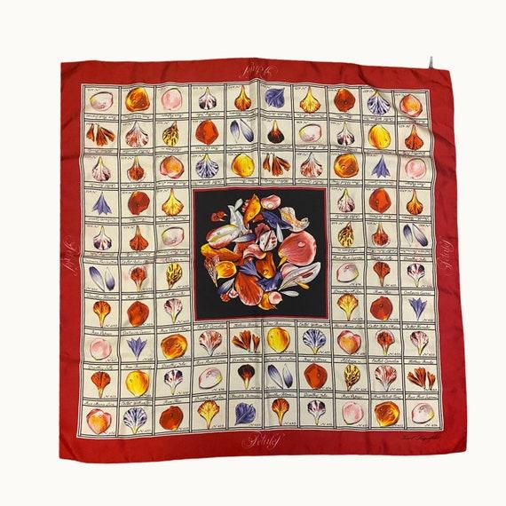 KARL LAGERFELD - 90s Flowers Silk Scarf