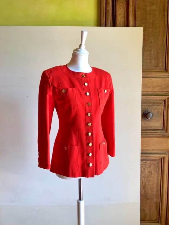 CHANEL - 90s Chanel Cotton Jacket - Size S - image 4