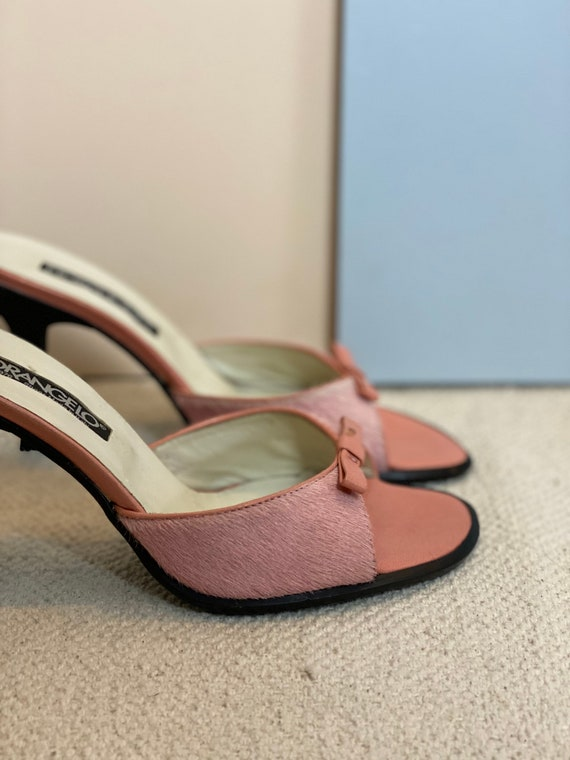 36 EU | 90s Leather High Heels Mules - image 6