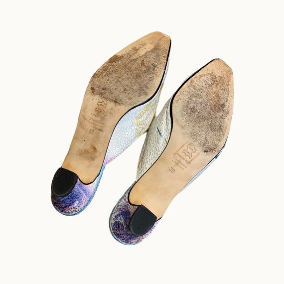 39 EU | 90s Silk and Leather Mules - image 6