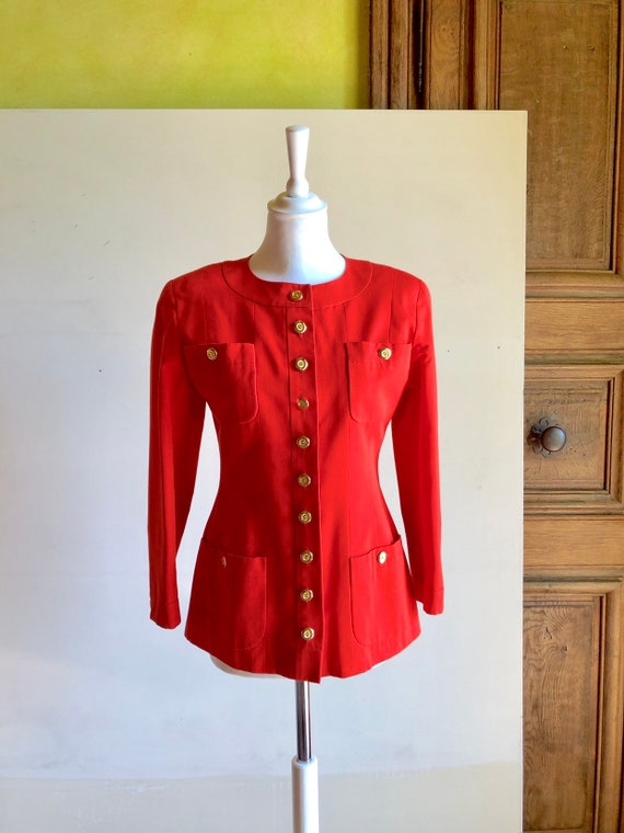 CHANEL - 90s Chanel Cotton Jacket - Size S - image 2