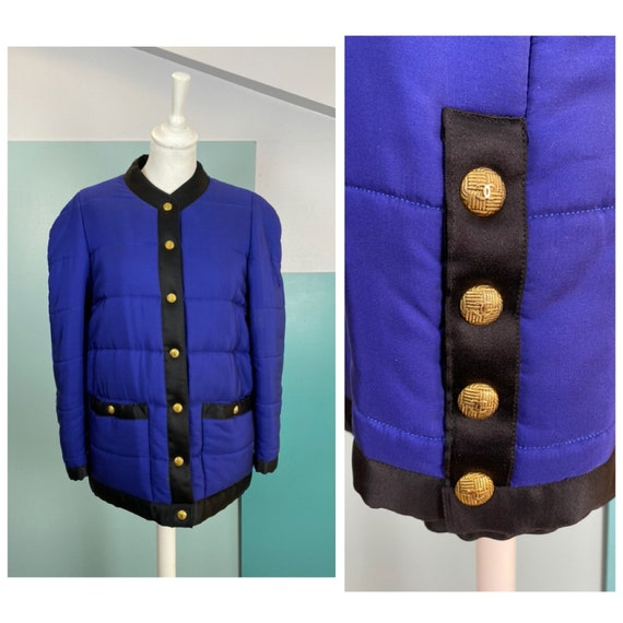 CHANEL - 90s Chanel Silk Bomber Jacket - Size M
