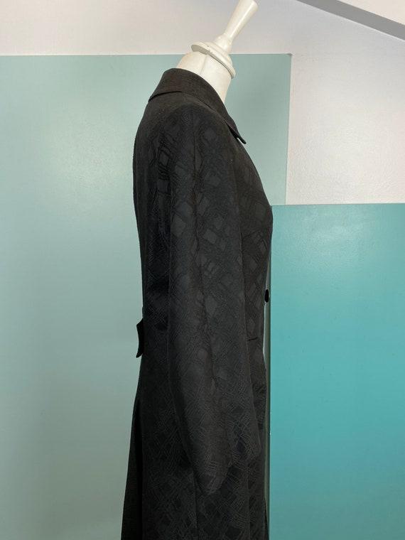 AQUASCUTUM - 90s Aquascutum  Black Cotton Raincoa… - image 7