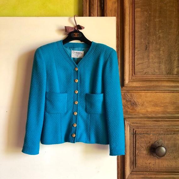 CHANEL - 90s Chanel Bouclè Wool Jacket - Size S - image 8