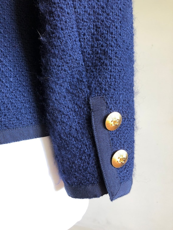 CHANEL - 90s Chanel Wool Jacket - Size S - image 7