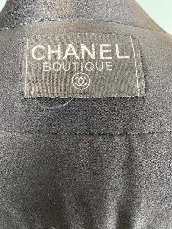 CHANEL - 90s Chanel Silk Bomber Jacket - Size M - image 9