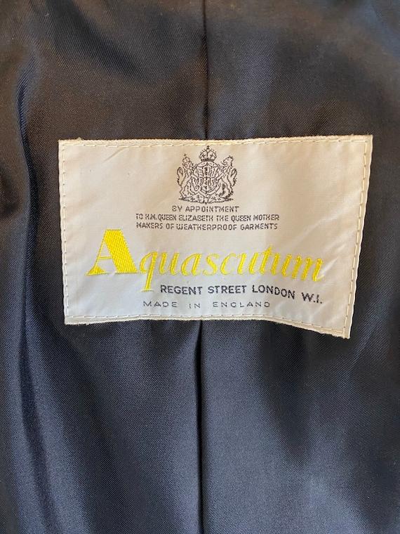 AQUASCUTUM - 90s Aquascutum  Black Cotton Raincoa… - image 10