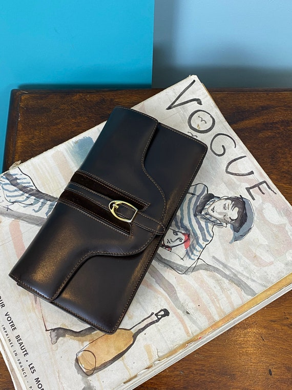 GUCCI - 60/70s Brown Leather Clutch - image 10