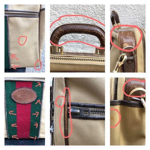 GUCCI - 70s Gucci Cavas and Boar Leather Briefcas… - image 9