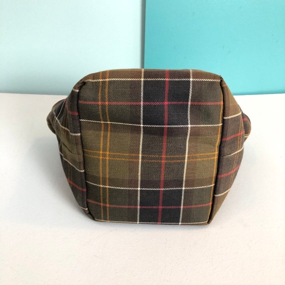 BARBOUR - Vintage Barbour Checkered Canvas and Le… - image 6