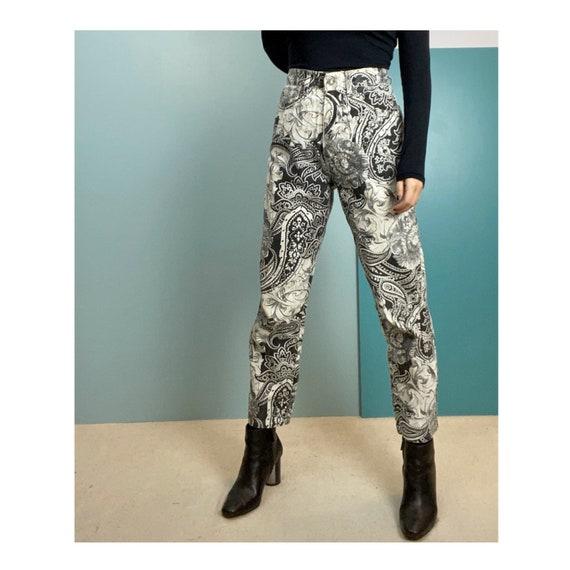 80s Roberto Cavalli Printed Jeans - Size S