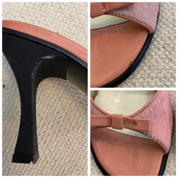 36 EU | 90s Leather High Heels Mules - image 9