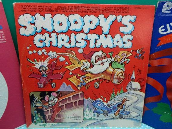 Snoopys Christmas.Christmas Records Lp S Sold Individually Snoopy S Christmas Or Elvis Christmas Album