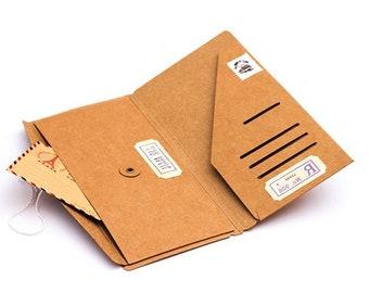 Sturdy Kraft Paper Insert Envelope Card Holder Wallet Journal Accessories Travelers Notebook Standard / Personal / Passport - e013