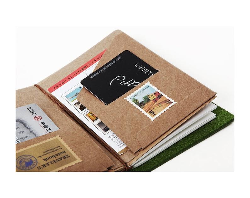 cf8317db4c6a Kraft File Folder Insert for Traveler's Notebook - 3 Sizes, Kraft Paper  Pocket Receipts Credit Card Holder Midori Accessories - e024