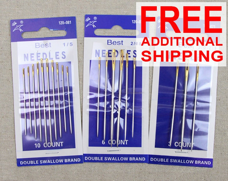 20 pieces PRYM 121295 Hand sewing needles sharps with gold eye No 9 assorted 5