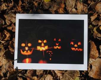 Jack-o-lanterns glossy photo print