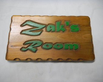 Carved Wooden Door Signs, Custom Designed, Room Use Sign, Directional, Plaques, Business, Decorative, Contoured,