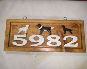 House Number Signs, Address Signs, Street Numbers, Wooden Signs, Rustic Signs, Carved Sign, Weather Resistant, UV Protective, Reflective.
