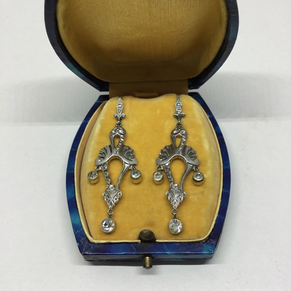 Art Deco 1930/Art Deco chandelier silver earrings