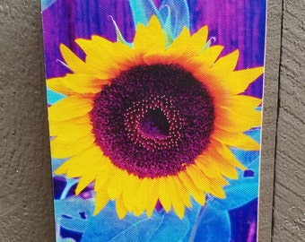 Bright Sunflower Original Photograph Printed on Canvas and Mounted. Free standing or hanging!