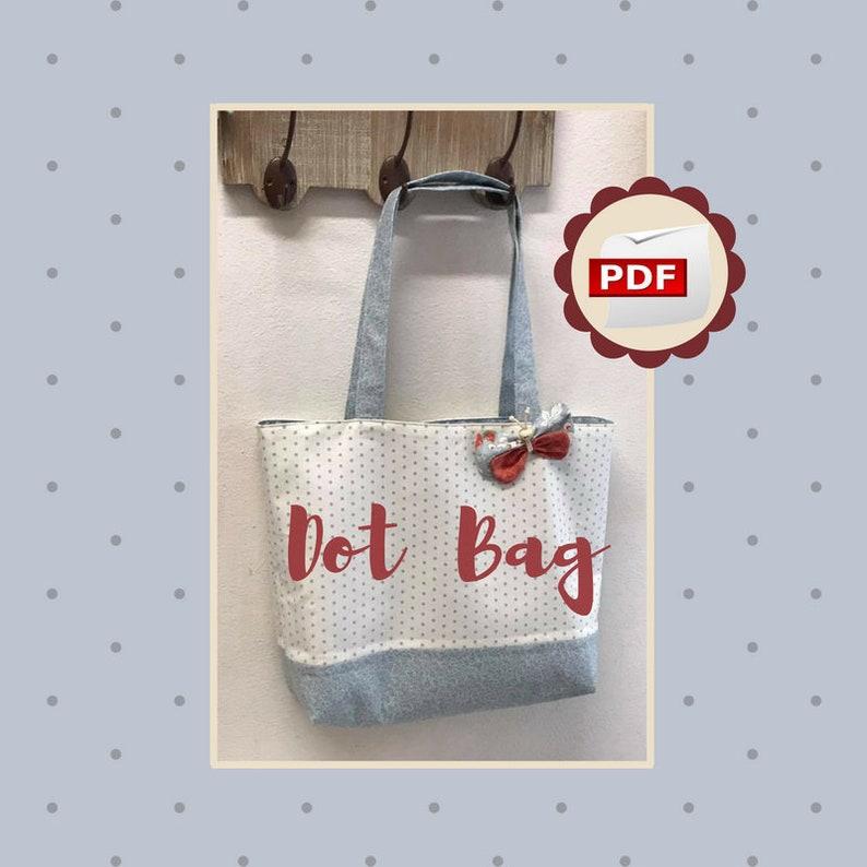 1c842d0091 Dot Bag progetto cucito creativo tutorial cartamodello | Etsy