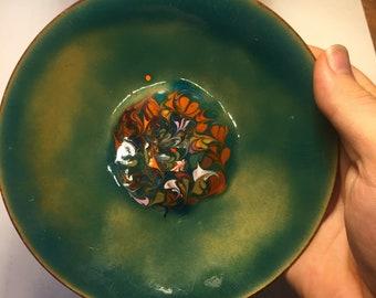 Vintage Green Metal Plate