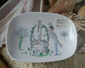 A 1950s Rosenthal Peynet Plate
