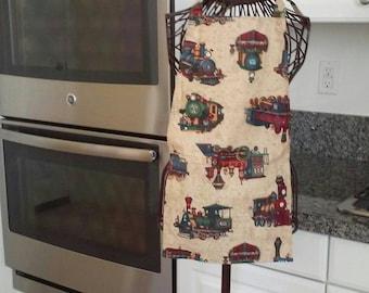 Boys train apron
