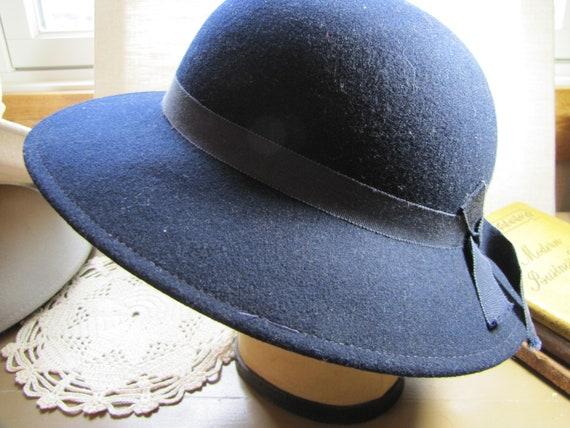 Vintage Geo. W. Bollman   Co. Ladies Dress Hat Doeskin Felt  ec21caf7b0a