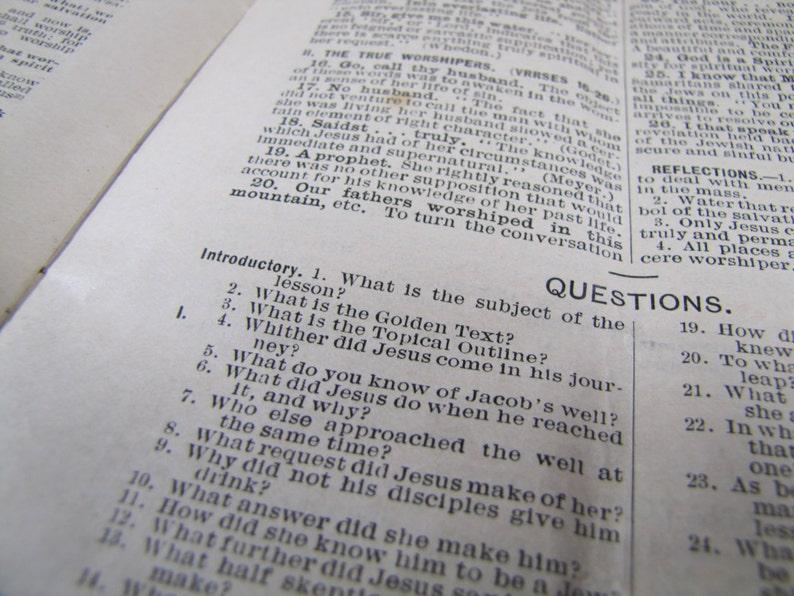 Senior Quarterly - Sunday School Booklet - First Quarter 1900 - M E  Church  South, Nashville, Tenn