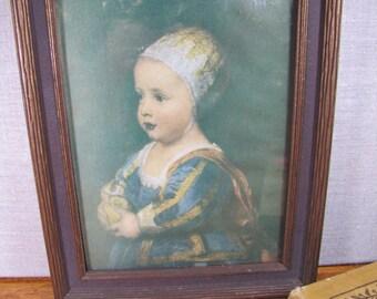 Framed Royal Girl Portrait Print