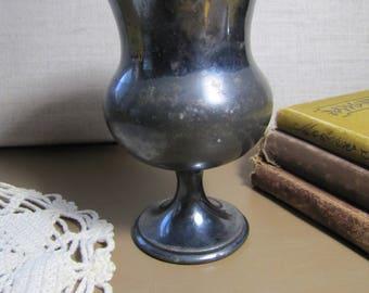 Silverplated Tumbler - Dark Patina - Pedestal Base - #1677