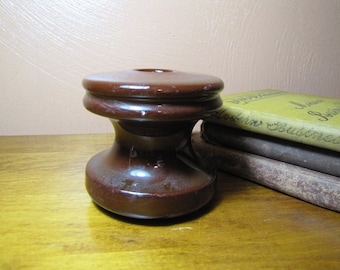 Vintage Spool Type Porcelain - Ceramic Insulator