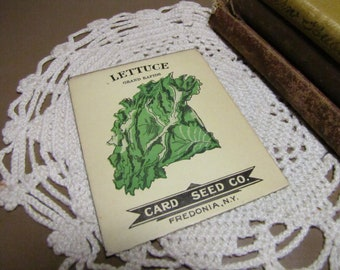 Vintage Seed Envelope - Card Seed Co. - Lettuce