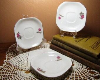 Vintage Small Square Plates (3)