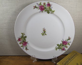 Thames China - Moss Rose - Pink Rose - Wide Rim Dinner Plate
