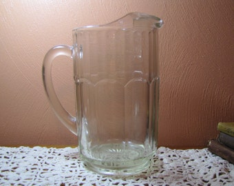 Vintage Glass Drink Pitcher