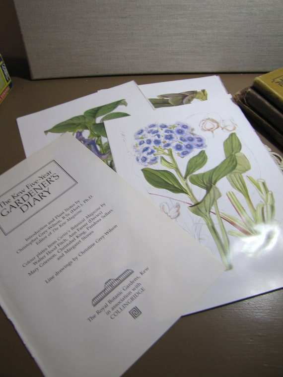 Botanical Prints From The Kew Five Year Gardeneru0027s Diary | Etsy