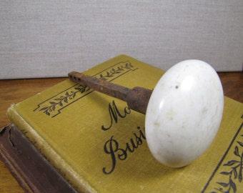 Vintage White Porcelain Doorknob