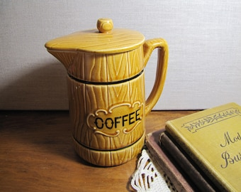 Royal Sealy  - Ceramic and Porcelain Coffee Pot - Woodgrain Look - Made in Japan