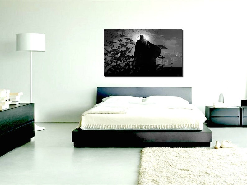 New +FREE Batman Necklace Batman Dark Knight Inspired Canvas Picture LIMITED OFFER! size A1