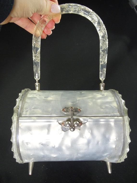 Vintage Lucite Round Handbag