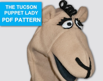 Camel Puppet Sewing Pattern