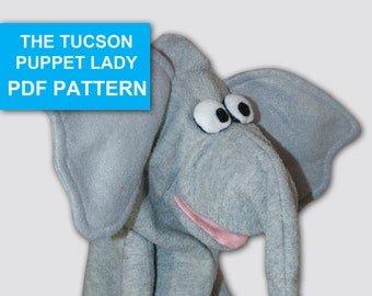Elephant Puppet Sewing Pattern