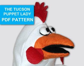 Chicken Puppet Sewing Pattern