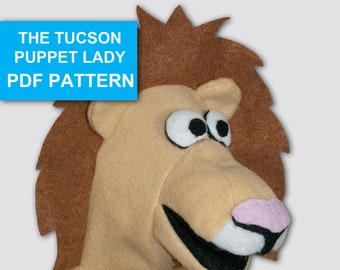 Lion Puppet Sewing Pattern