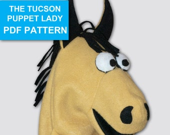 Horse Puppet Sewing Pattern