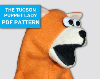 Cat Puppet Sewing Pattern