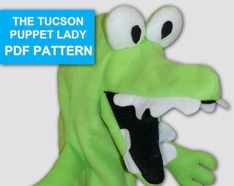Alligator Puppet Sewing Pattern